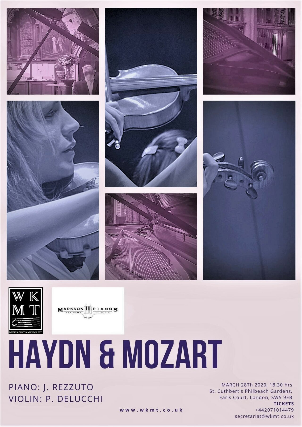Recording Mozart and Joseph Haydn famous concertos